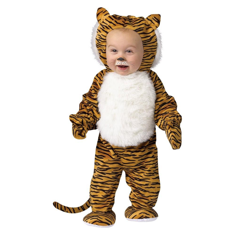 Toddler Cuddly Tiger Costume 3T-4T, Toddler Unisex, Variation Parent