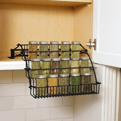 Rubbermaid® Pull-Down Spice Rack - Black