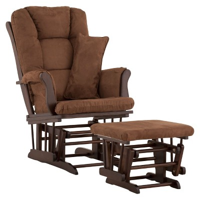 Stork Craft Tuscany Espresso Glider and Ottoman - Chocolate