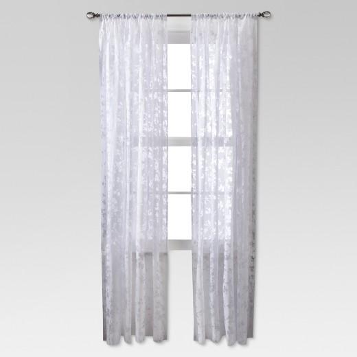 White Lace Curtains Target Curtain Menzilperde Net