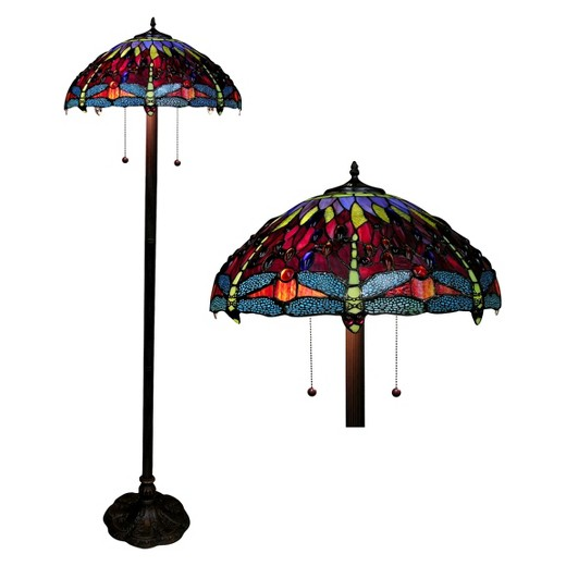 Tiffany style dragonfly floor lamp amber target tiffany style dragonfly floor lamp mozeypictures Images