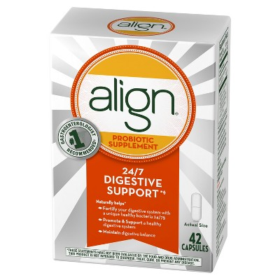 Align Probiotic Supplement Digestive Capsules 42ct
