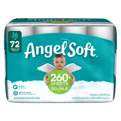 Angel Soft Toilet Paper - 36 Double Rolls