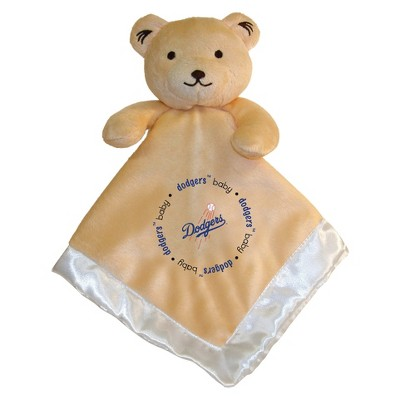 LA Dodgers Small Security Blanket Bear - White