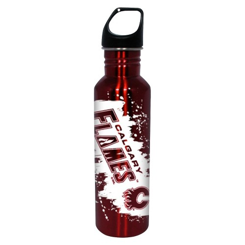 NHL Calgary Flames Water Bottle - Red (26 oz.), Red/White