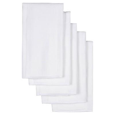 Gerber Newborn 5pk Birdseye Prefold Diapers - White