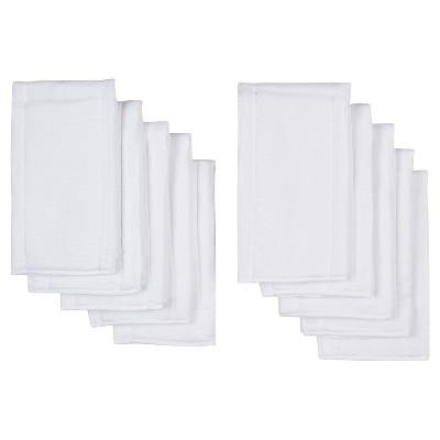 Gerber Newborn 10 Pack Gauze Prefold Diaper - White