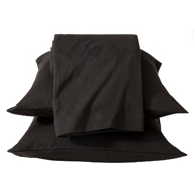 Jersey Sheet Set - (King)Black - Room Essentials™