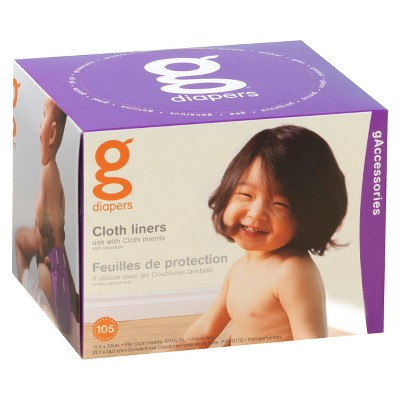 gDiapers Cloth Liners - 105 ct