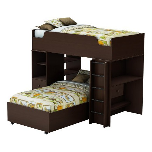 $799.99 - Logik Storage Bunk Kids Bed - Espresso (Twin) - South Shore : - Bunk Beds At Target Land Design Reference