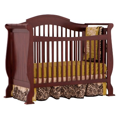 Stork Craft Valentia 4-in-1 Convertible Crib - Cherry