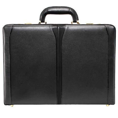 "McKlein Turner Leather 4.5"" Expandable Attache Briefcase (Black) - image 1 of 1"