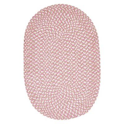 Nayeli's Charm Oval Rug - Petal Pink (5x7')
