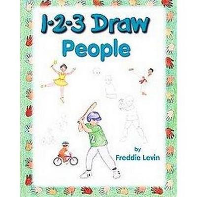 1 2 3 Draw People Paperback Freddie Levin Target