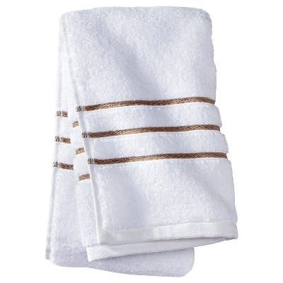 Hand Towel White/Taupe Stripe - Fieldcrest™