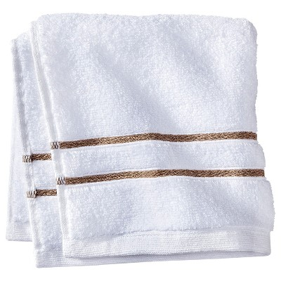 Wash Cloth White/Taupe Stripe - Fieldcrest™