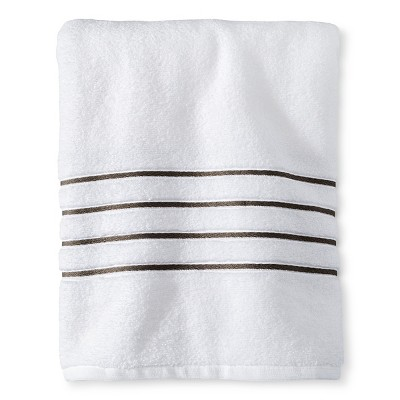 Bath Towel White/Gray Stripe - Fieldcrest™