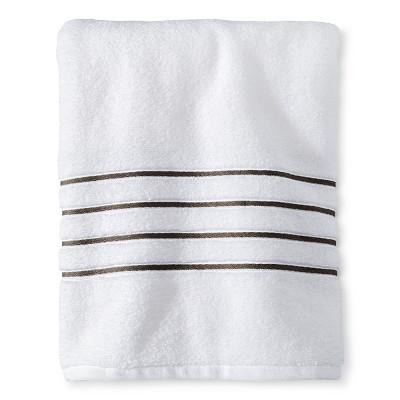Bath Towel White/Gray Stripe - Fieldcrest™