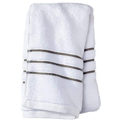 Hand Towel White/Gray Stripe - Fieldcrest™