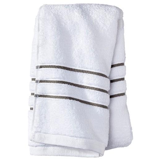 Hand Towel White Gray Stripe Fieldcrest Target