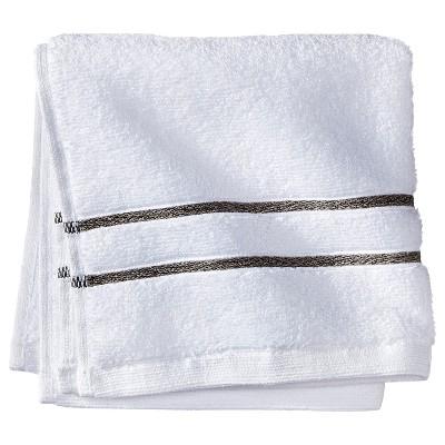 Wash Cloth White/Gray Stripe - Fieldcrest™