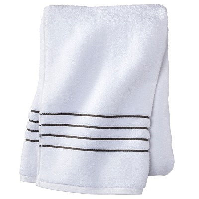 Bath Sheet White/Gray Stripe - Fieldcrest™