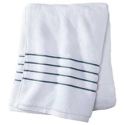Bath Towel White/Aqua Stripe - Fieldcrest™