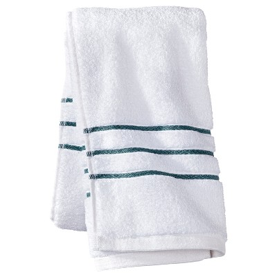 Hand Towel White/Aqua Stripe - Fieldcrest™