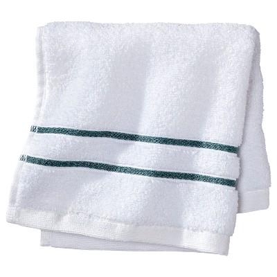 Wash Cloth White/Aqua Stripe - Fieldcrest™