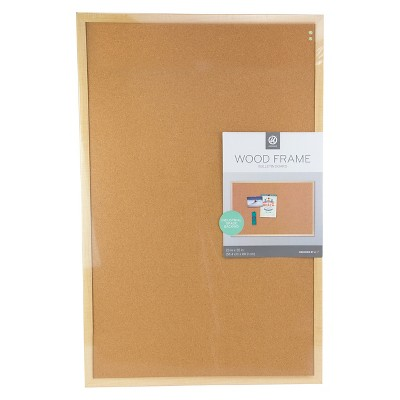 Ubrands Wood Frame Bulletin Board - 23  x 35