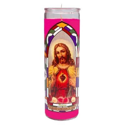 Jar Candle Sagrado Corazon De Jesus Pink - Continental Candle®