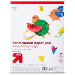 9x12 Multicolored Heavyweight Construction Paper - up & up™