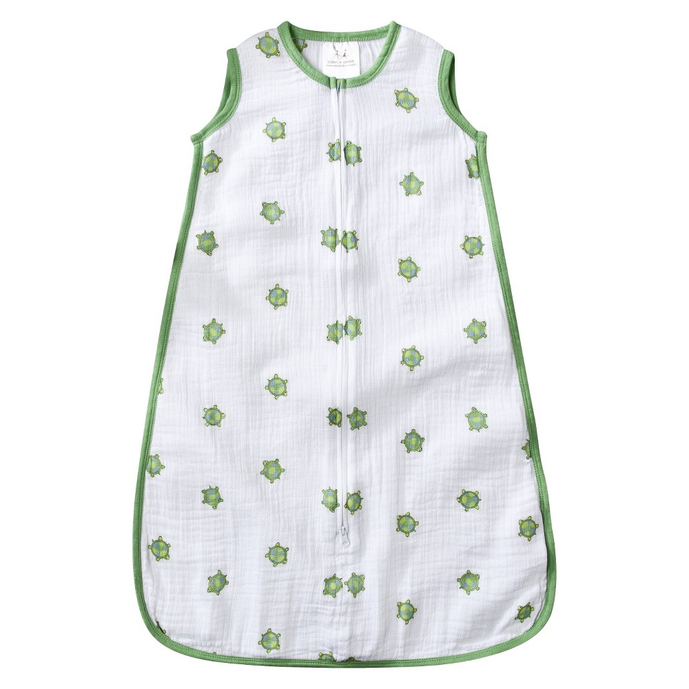 Aden by Aden + Anais Sleeping Bag - Lifes a Hoot - Turtle - S, Infant Girls, Green