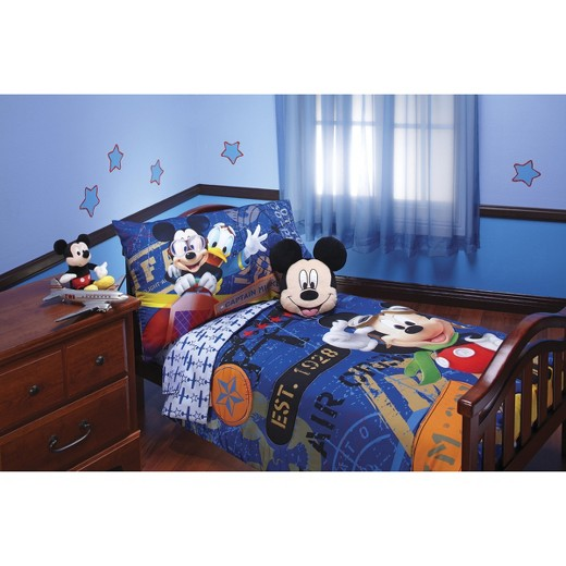 disney mickey mouse 4 piece bed set blue toddler tar