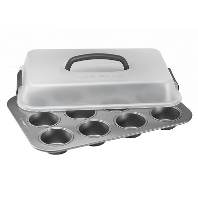 Calphalon Kitchen Essentials 12 Cup Cupcake Carrier and Pan