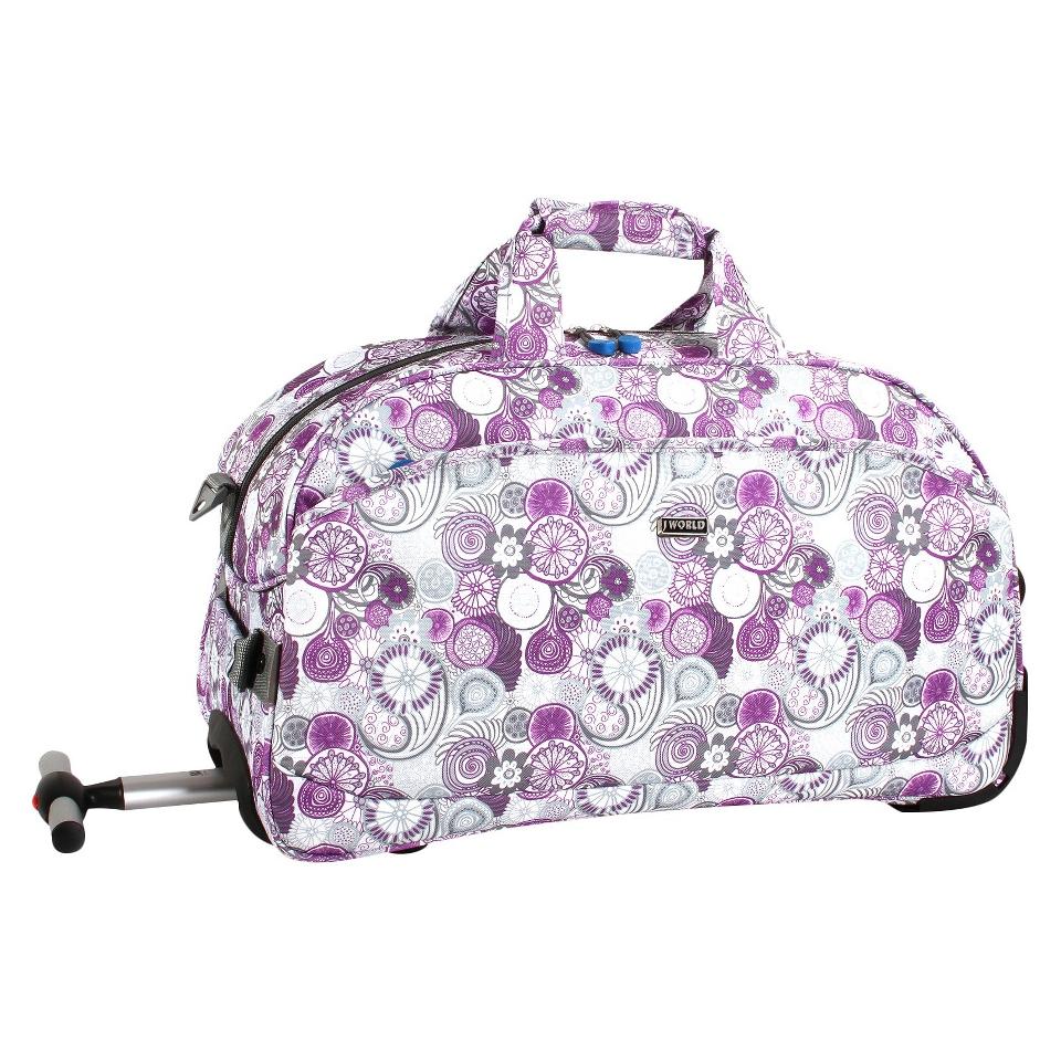 J World Christy Carry on Rolling Duffel Bag