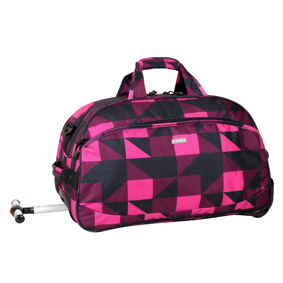 J World Christy Carry on Rolling Duffel Bag