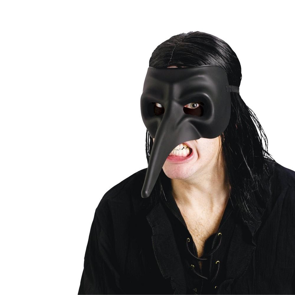 Mens Venetian Raven Mask Black