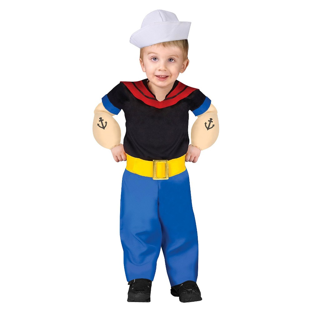 Boys Toddler Popeye Costume - 18-24 Months, Variation Parent