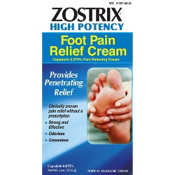 Zostrix Neuropathy Diabetic Foot Pain Relieving Cream - 2.0 oz