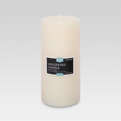 Fragrance Free Pillar Candle Cream 6 x3  - Threshold™