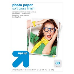 Semigloss Photo Paper Letter Size 30ct - up & up™