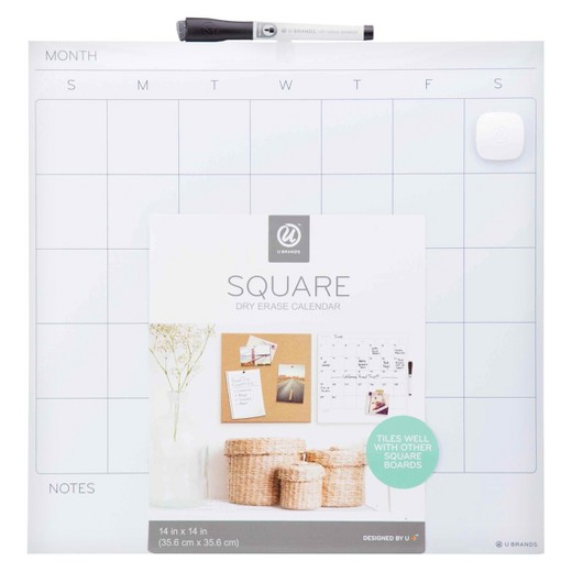Dry Erase Calendar Target : Ubrands dry erase calendar tile unframed quot x white
