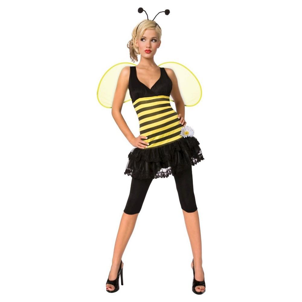 Womens Sweet as Honey Costume, Size: XS, Black Yellow