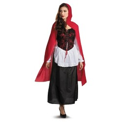 Women's Deluxe Red Riding Hood Costume One Size Fits Most