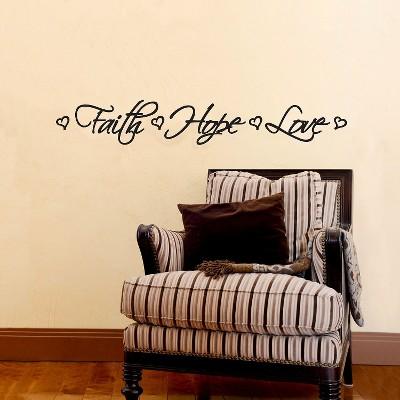 Faith Hope Love Wall Decal Part 34