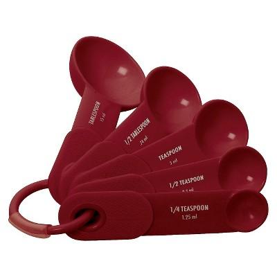 KitchenAid® Measuring Spoons Plastic 4 Piece Set Red