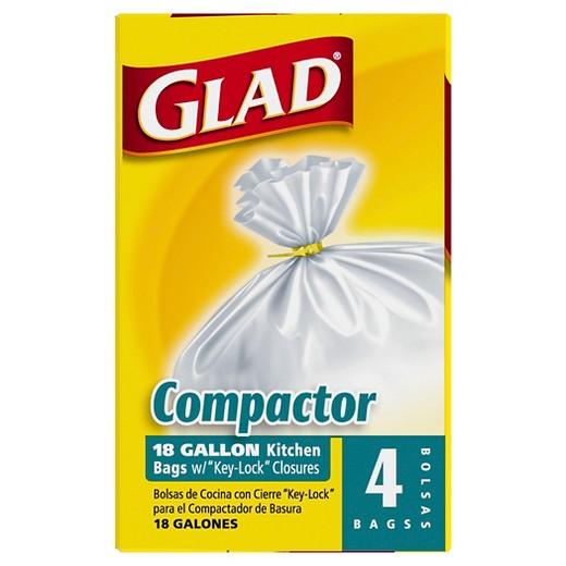 Glad Compactor Kitchen Trash Bags 18 Gal 4 Ct Target
