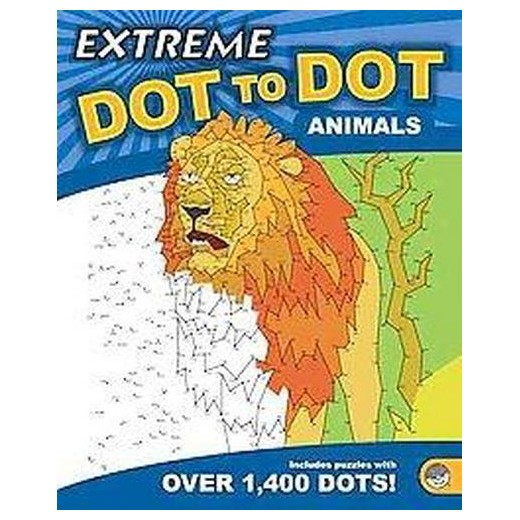 Animals Adult Coloring Book Extreme Dot To