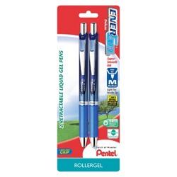 Pentel Energel Deluxe 2ct Blue Medium tip Gel Ink Pen
